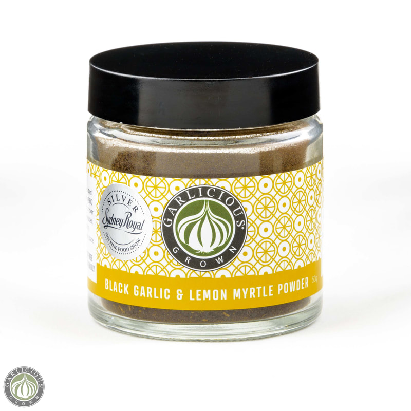 Black garlic& lemon myrtle powder jar