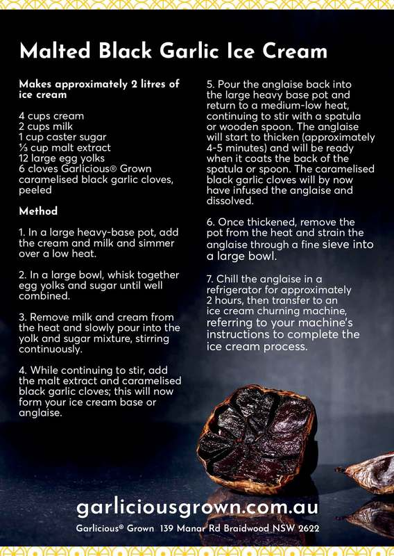 Malted Black Garlic Icecream recipe