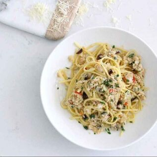 Crab Black Garlic and Truffle Pasta